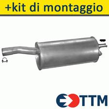 FIAT DOBLO VAN 1.6 1.9 JTD 103/105HP 2000- Silenziatore Marmitta Posteriore+