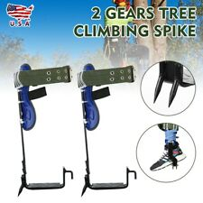 2 Gears Tree Climbing Spike Set Pole Climber Adjustable Lanyard Rope Rescue Belt