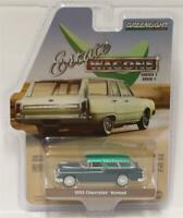 GREENLIGHT 1:64 Estate Wagons Series 1 1955 Chevrolet Nomad GREEN MACHINE