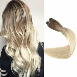 Full Shine Hair Weft Sew in Hair Extensions Ombre Color Full Head for Salo