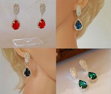 Rhinestone Drop/Dangle Acrylic Costume Earrings