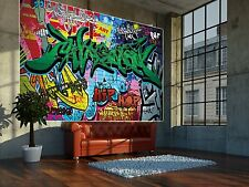 Graffiti Prepasted wallpaper Mural TV photo Wall covering Decor 2.1x1.5m BZ673