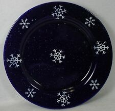 FOUR STAR INTERNATIONAL china COBALT/SNOWFLAKE pattern Dinner Plate @ 9-7/8""