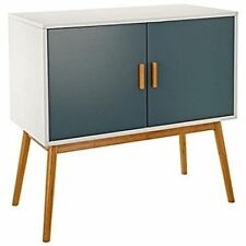 Lomos No.3 Sideboard White Wood Cabinet with Two Doors In a Modern Shade Of Grey