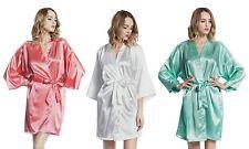 Women's SILK Kimono robes gowns bride robe wedding party, bridesmaid pregnancy