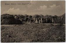 cartolina militare BENGASI dintorni-UADAI villaggio di negri