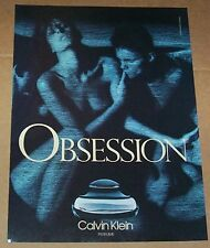 1988 ad page - Calvin Klein Obsession NUDE girl guy sexy PRINT ADVERTISING