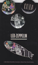 Led Zeppelin 3 Pins Set In Through The Out Door Coda Presence 2015 Promo Mint
