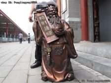 Chinese Bronze Copper Lucky Dragon God of Wealth Mammon Buddha Fengshui Statue