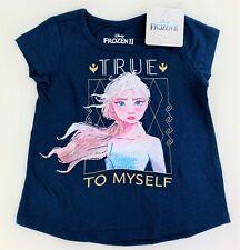 Disney World Frozen Elsa Anna Girls Toddler Short Sleeve Tee Shirt Top