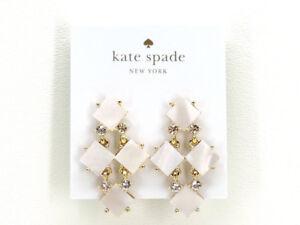 Kate Spade New York Pearl Cove Chandelier Earrings Goldtone New!