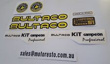 Bultaco Sherpa Kit Campeon Professional Decal set