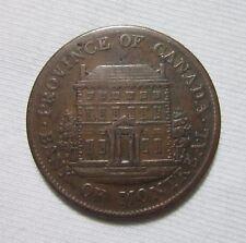 CANADA. BANK OF MONTREAL, 1/2 PENNY TOKEN, 1844.