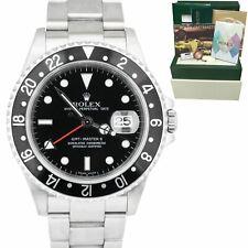 2007 Rolex GMT-Master II 40mm De Acero Inoxidable No-Agujeros Negro Reloj de 40mm 16710 Conjunto Completo