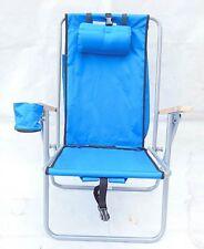 1Pcs Blue Portable Folding Garden Beach Camping Fishing Chair