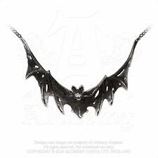 New Alchemy Gothic Pewter Villa Diodati Swooping Bat Pendant Necklace P765
