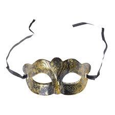 Retro Men Halloween Silver Gold Venetian Mardi Gras Masquerade Party Ball Mask B