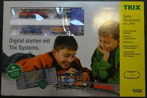 Minitrix Digital-Start-Set 11124 Ellok Containerzug Kran Gleisoval Weiche Trafo