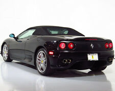 Ferrari 360, F430 Spider Convertible Soft Top, 2001-2008 Black Twillfast II OEM