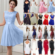 Wome's Lace Floral Formal Dresses Prom Evening Party Cocktail Bridesmaid Wedding