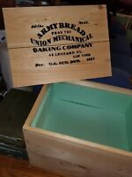 Civil War Hardtack Crate, Union Mechanical Baking Company, Full Size hand built.