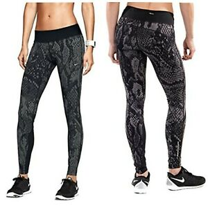 Nike (627060 233) Dri-Fit Epic Lux Gray Snakeskin Running Tights Women's Size M