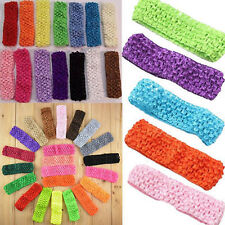 10pcs Lots Wholesale Kid Baby Girls Stretchy Elastic Lace Crochet Headbands sh