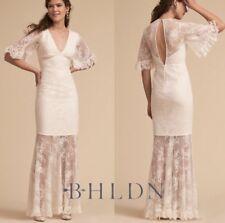 NWT $380 BHLDN Tahulah Anson Ivory Lace Wedding Dress Size Small Bride