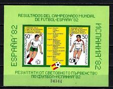 Bulgarie 1982 résultats coupe du monde Yvert bloc n° 108 B neuf ** 1er choix