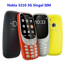 "Refurbished Unlocked Nokia 3310 2.4"" 3G GSM Phone Flashlight Single Sim Slot MP3"