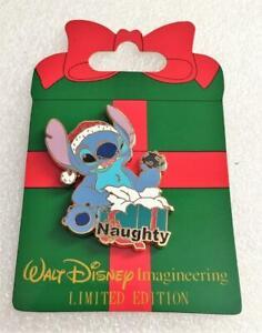Disney WDI Lilo and Stitch Naughty Santa Stitch with Coal Present LE 300 Pin