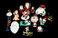 Lot of 15 Santa Claus Christmas Ornaments Train Engine Noel Drum Holiday Decor