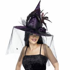 Purple Witch Hat Adult Deluxe Fancy Dress Halloween Accessory