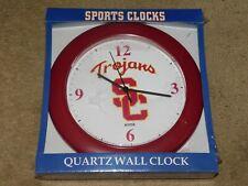 USC TROJANS QUARTZ WALL CLOCK (New In Box)