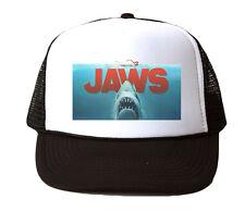 Jaws Movie Trucker Hat Mesh Cap Snapback Adjustable Brand New-Black