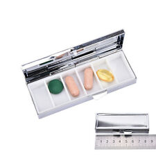 Travel Metal Pill Box Medicine Drug Vitamin Tablet Organizer Container Case Pop.