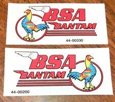 "BSA Bantam Rooster 3.5"" left/right hand gas fuel petrol tank transfer decals, pr"