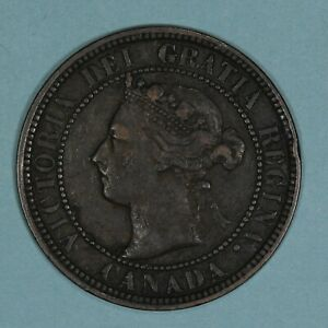 1898-H Canada Large Cent coin, VF, KM# 7