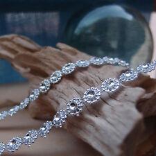 """3/8""""x1YD Silver Diamond Shape Mesh Wrap Roll Crystal Rhinestone Sparkle Ribbon"""