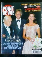 Point de Vue 14/8/2002; Gala de la croix rouge, l'absence de Stéphanie
