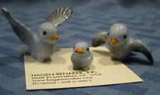 Hagen Renaker Miniature, Tweety Bird Family, Papa Mama Baby, blue #481, 482, 495