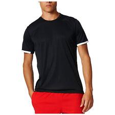 Adidas Mens FreeLift ClimaLite 3-Stripes T-Shirt Fitness Running Black Crew Tee