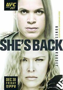 UFC 207 MMA Ronda Rousey Amanda Nunes 18 x 24 inch poster