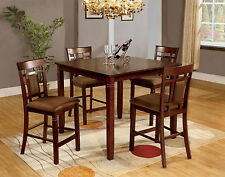 Kitchen Small Dining Room 5pc Counter Height Dining Set Dining Table Chairs New