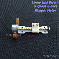 DC 5v 2 phase 4-wire Stepper Motor linear Screw shaft Position lead nut slider