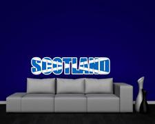 Wandtattoo Schottland Schriftzug Wandaufkleber Scotland  8 Größen