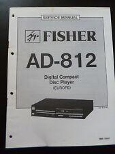 Original Service Manual Fisher Digital Compact Disc Player AD-812