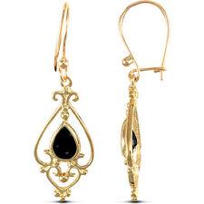 Pendientes de joyería con gemas oro