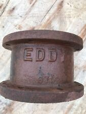"EDDY HYDRANT 6"" EXTENSION BARREL, ""EDDY 571"" Raised Letters, Rust Patina 5-1/4"