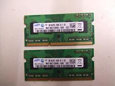 4GB DDR3 Laptop RAM Memory - 2 X 2GB  DDR3-1333 SODIMM PC3-10600S Samsung